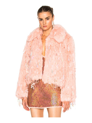 ASHISH Faux Fur Dangle Jacket