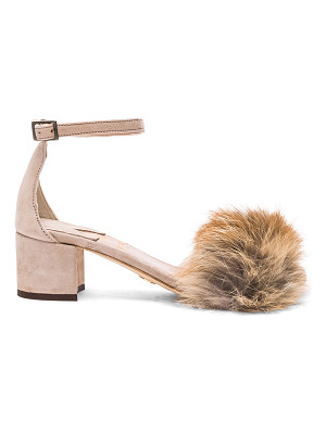 BROTHER VELLIES For Fwrd Dhara Tufted Fox Fur Sandals