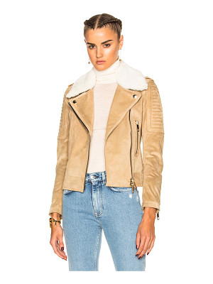 Burberry London Peakhurst Suede Biker Jacket
