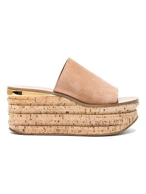 CHLOE Camille Suede Wedge Sandals
