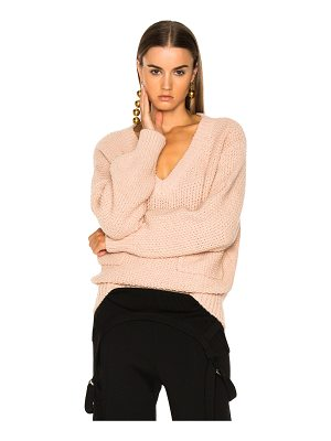 Chloe Chunky Stitch V-Neck Sweater