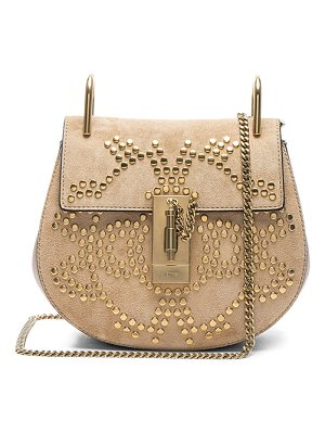 CHLOE Mini Drew Constellation Studded Suede Shoulder Bag