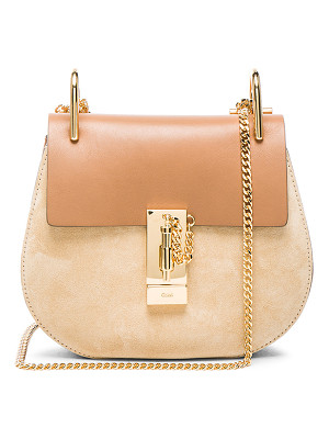 CHLOE Mini Drew Leather & Suede Bag