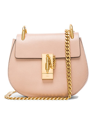 Chloe Mini Leather Drew Shoulder Bag