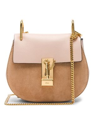 CHLOE Mini Drew Calfskin & Suede Shoulder Bag