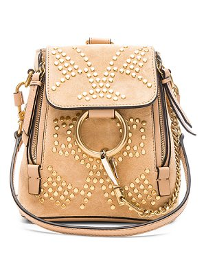CHLOE Mini Faye Constellation Studded Suede Backpack