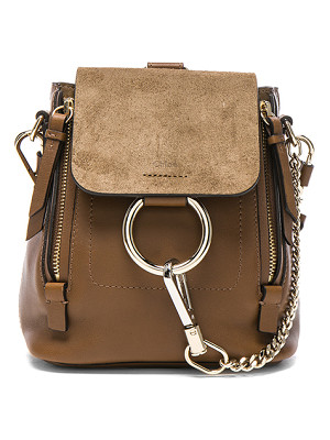 CHLOE Mini Faye Suede & Leather Backpack