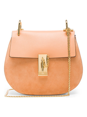 CHLOE Small Suede & Calfskin Drew Shoulder Bag