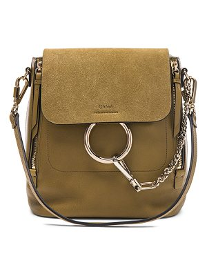 CHLOE Small Faye Suede & Calfskin Backpack