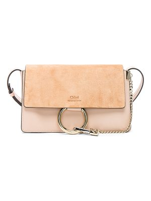 Chloe Small Faye Suede & Calfskin Shoulder Bag