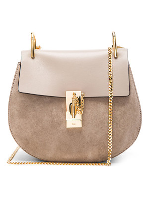 CHLOE Small Drew Suede & Calfskin Shoulder Bag