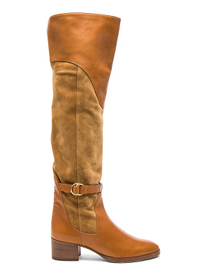 CHLOE Suede Lenny Over The Knee Boots