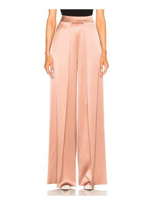 Cushnie et Ochs High Waisted Wide Leg Double Charmeuse Pant