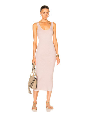 ENZA COSTA Rib Midi Tank Dress