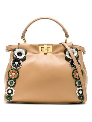 FENDI Flower Embellished Mini Peekaboo