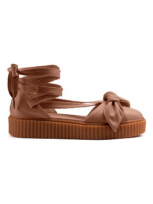 FENTY BY PUMA Bow Leather Creeper Sandals