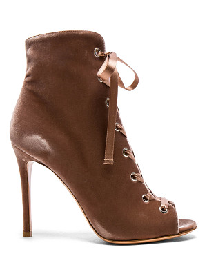 GIANVITO ROSSI For Fwrd Velvet Marie Lace Up Booties
