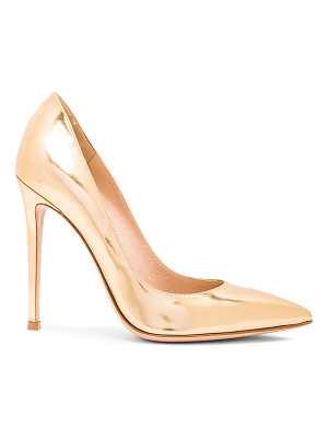 GIANVITO ROSSI Metallic Leather Gianvito Pumps