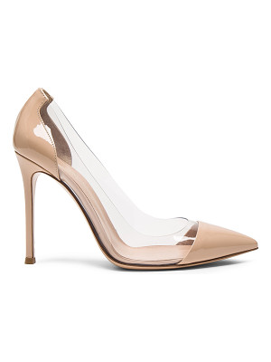 GIANVITO ROSSI Patent Leather Plexi Pumps