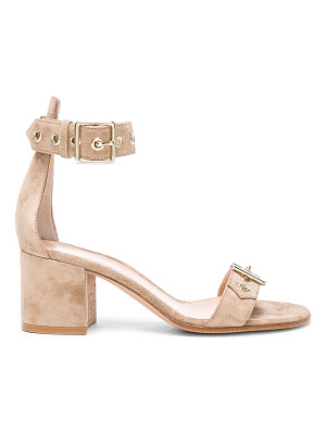 Gianvito Rossi Suede Hayes Buckle Detail Sandals