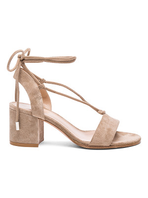 GIANVITO ROSSI Suede Lace Up Sandals