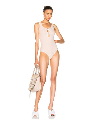 Jonathan Simkhai Scallop Trim Swimsuit