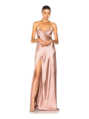 MICHELLE MASON For Fwrd Strappy Wrap Gown
