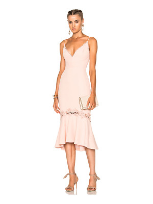 NICHOLAS Crepe Fitted Panel Dress