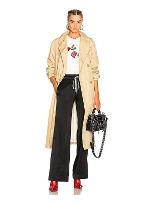 R13 Gusset Back Trench Coat