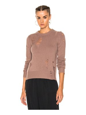 RAQUEL ALLEGRA Fitted Crewneck Sweater
