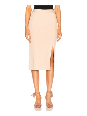 RYAN ROCHE Bottom Slit Fitted Skirt