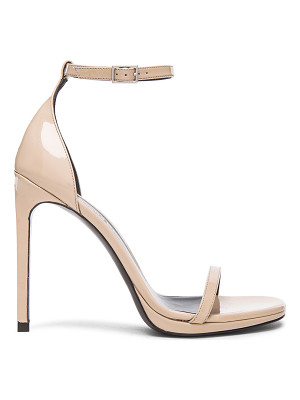 SAINT LAURENT Patent Leather Jane Sandals