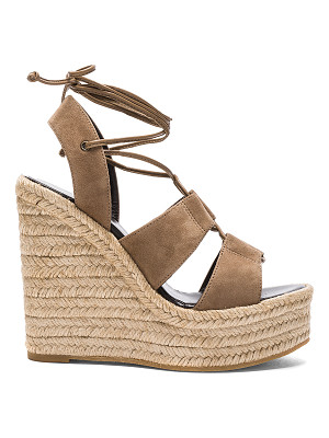 SAINT LAURENT Suede Espadrille Wedges