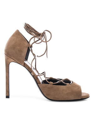 SAINT LAURENT Suede Kate Lace Up Heels
