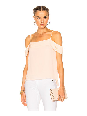 T BY ALEXANDER WANG Silk Pleated Off The Shoulder Top
