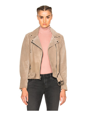 ThePerfext London Belted Suede Moto Jacket