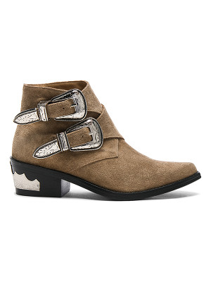 TOGA PULLA Buckle Suede Booties