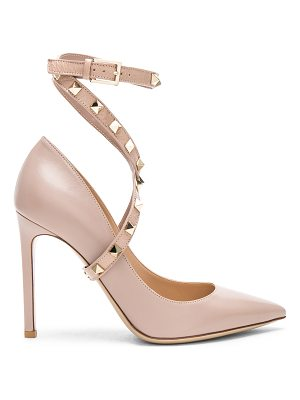 VALENTINO Leather Rockstud Strap Heels