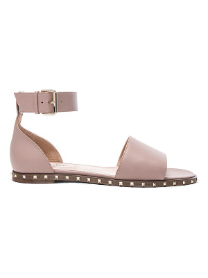 VALENTINO Leather Soul Rockstud Flat Sandals