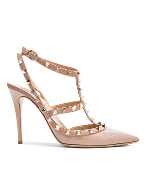VALENTINO Rockstud Patent Leather Slingbacks T.100