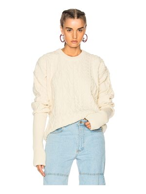 Y/PROJECT Asymmetrical Sleeve Crewneck Sweater
