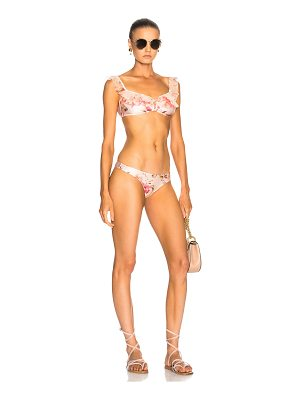 ZIMMERMANN Corsair Shoulder Ruffle Bikini Set