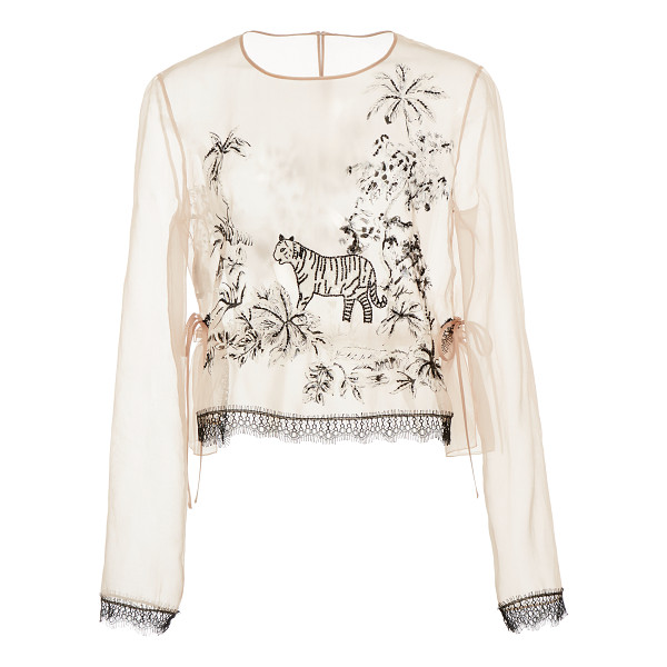 ALBERTA FERRETTI Silk Embroidered Blouse - Rendered in silk this *Alberta Ferretti*blouse features a...