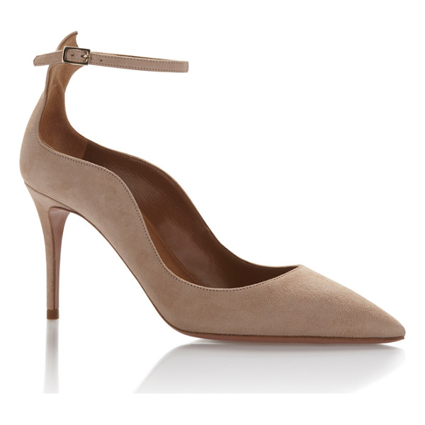 AQUAZZURA Dolce Vita Pump - A suede pump adds necessary texture to any look. These by...