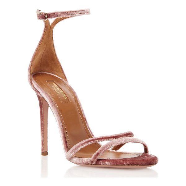 AQUAZZURA Purist Velvet Sandals - Aquazzura's sandals are crafted from plush velvet in a...
