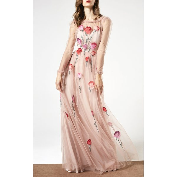 BLUMARINE Illusion Roses Gown - This *Blumarine* Illusion Roses Gown features a delicate...