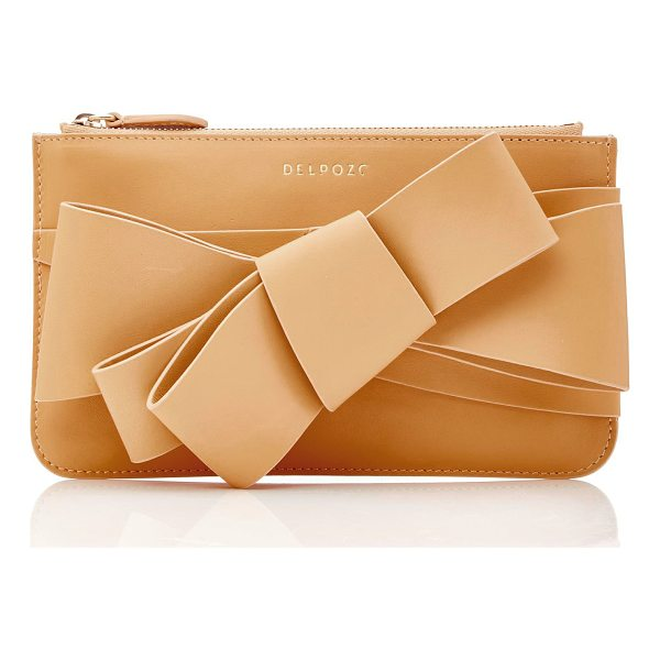 DELPOZO M'O Exclusive Polished Bow Clutch - This *M'O Exclusive Delpozo* bag is rendered in leather and...