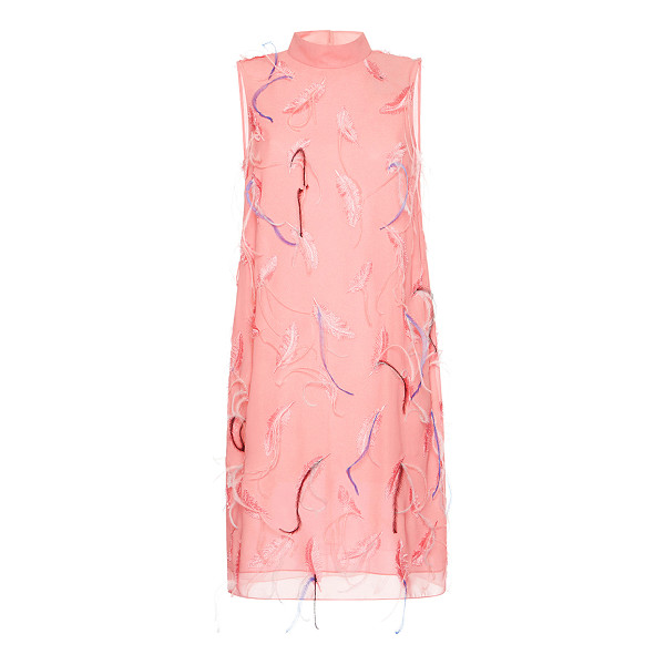 EMILIO PUCCI Feather Embroidered Shift Dress - This sleeveless *Emilio Pucci* dress features a shift...