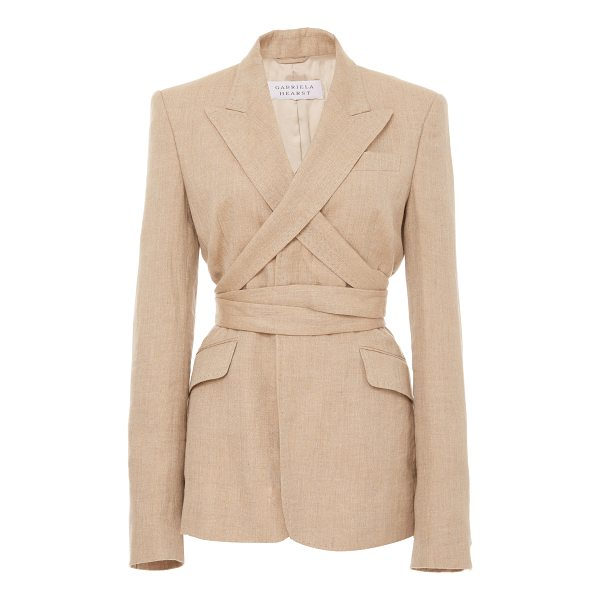 GABRIELA HEARST Nutter Blazer - a notched lapel that wraps around and a classic relaxed...