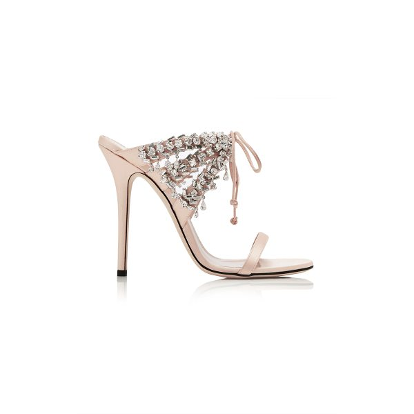GIUSEPPE ZANOTTI Crystal-Embellished Satin Sandals - Giuseppe Zanotti's Italian-crafted sandals are perfect for...